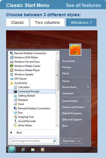 TPHOLIC - 유틸자료실 - Classic Shell 4 0 4 윈도8을 윈도7처럼 쓰게